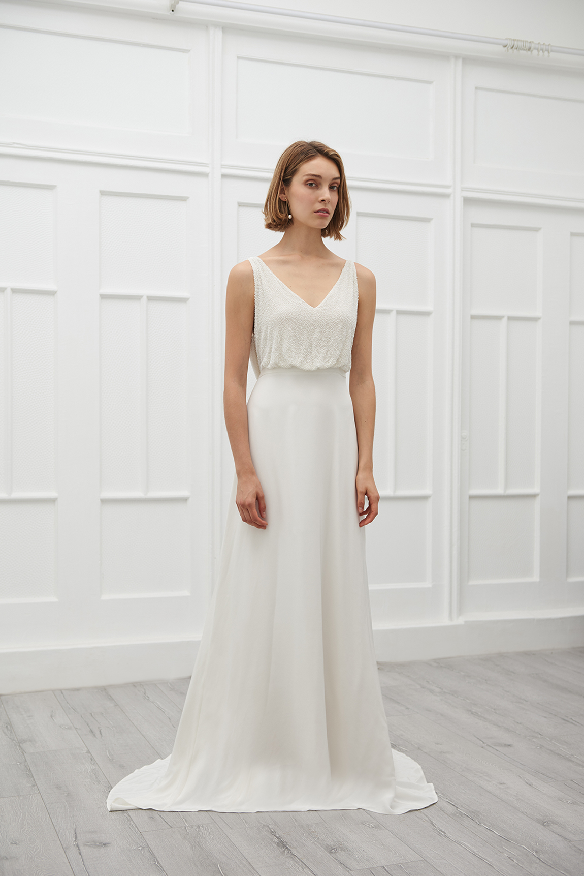 Vivian embedded singled wedding gown - Viktoria Chan