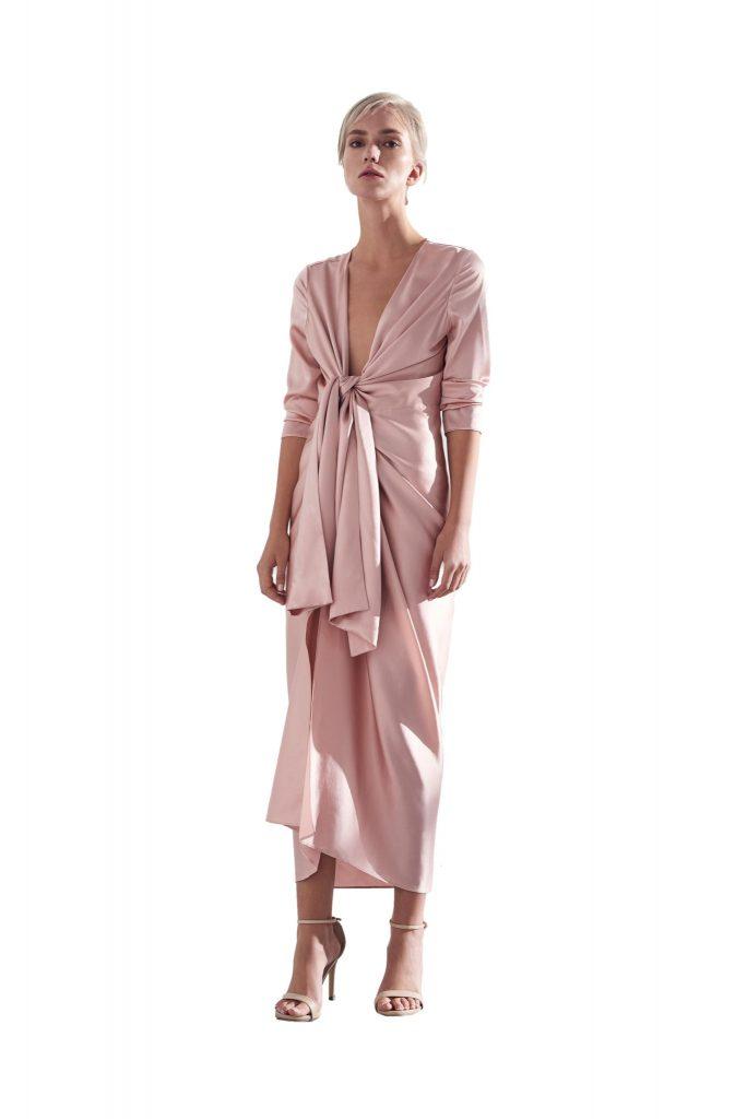 Lova midi draped dress - Viktoria Chan